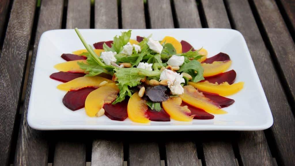 Vegetarische voorgerechten Carpaccio recept