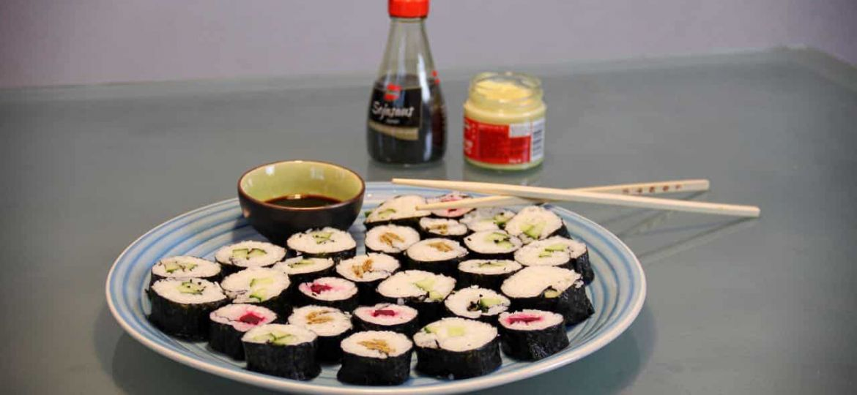 Vegetarische voorgerechten sushi recept