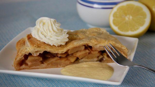 Apfelstrudel met vanillesaus recept 1
