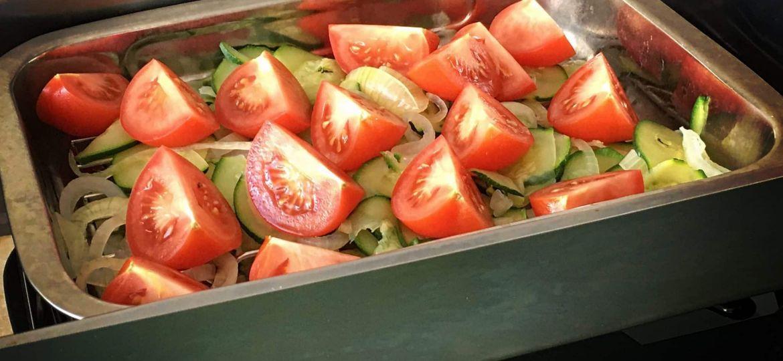Salade van gerookte groenten