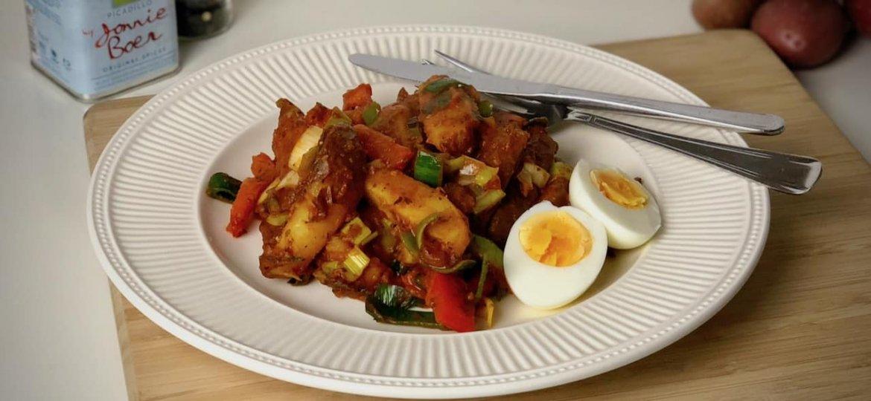Stoofschotel met paprika en prei recept