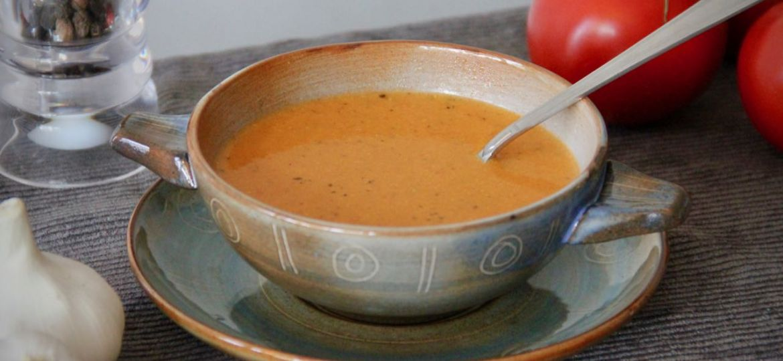 Tomatensoep met pesto en mascarpone recept 1