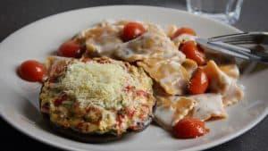 gevulde portobello met parmezaanse kaas voor