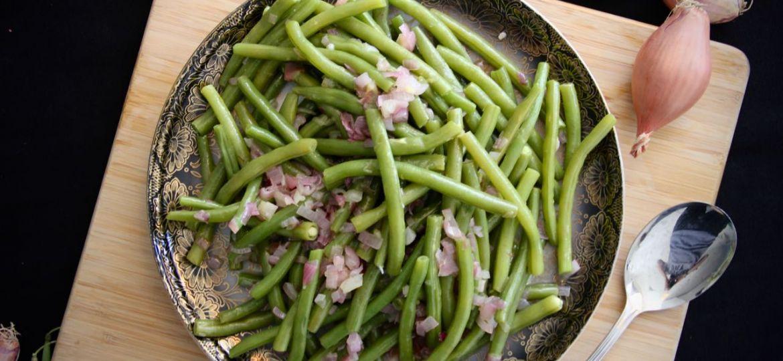 Bonensalade met sjalotten recept boven 1