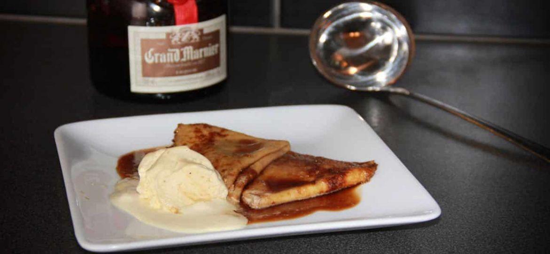 Crêpes Suzette met vanille ijs recept
