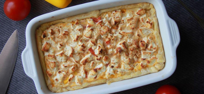 Paprika geitenkaas quiche recept boven