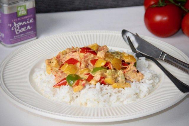 Kruidige paprika met tomaat recept voor