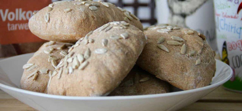 Volkoren broodjes bakken recept
