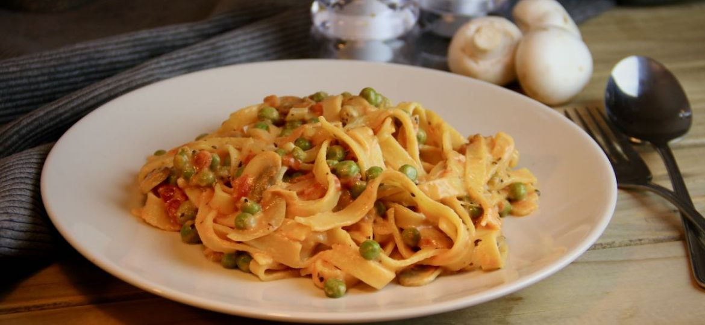 Tagliatelle Alfredo met groenten recept okt 2019 1