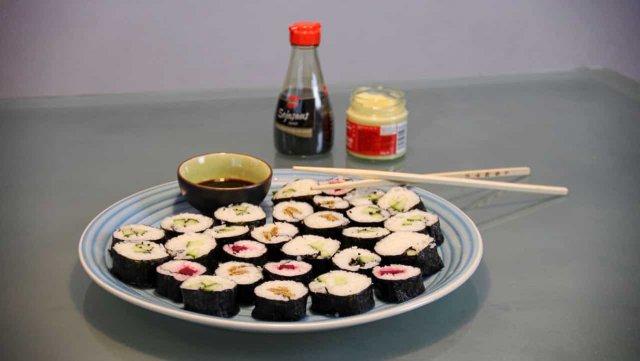 Vegetarische sushi maki recept