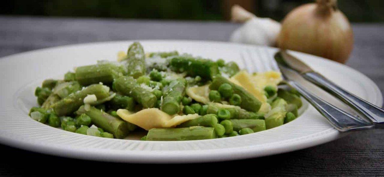Ravioli met groene asperges recept 1