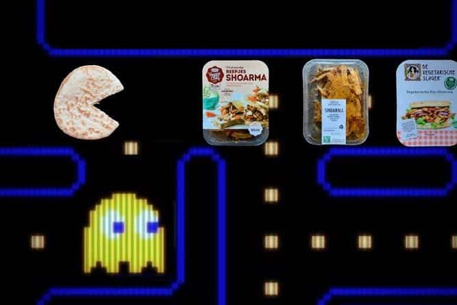 Vegetarische shoarma test pac man