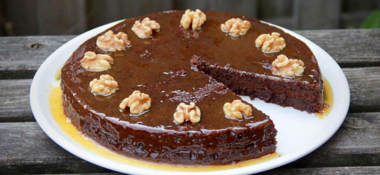 Chocolade caramel taart recept