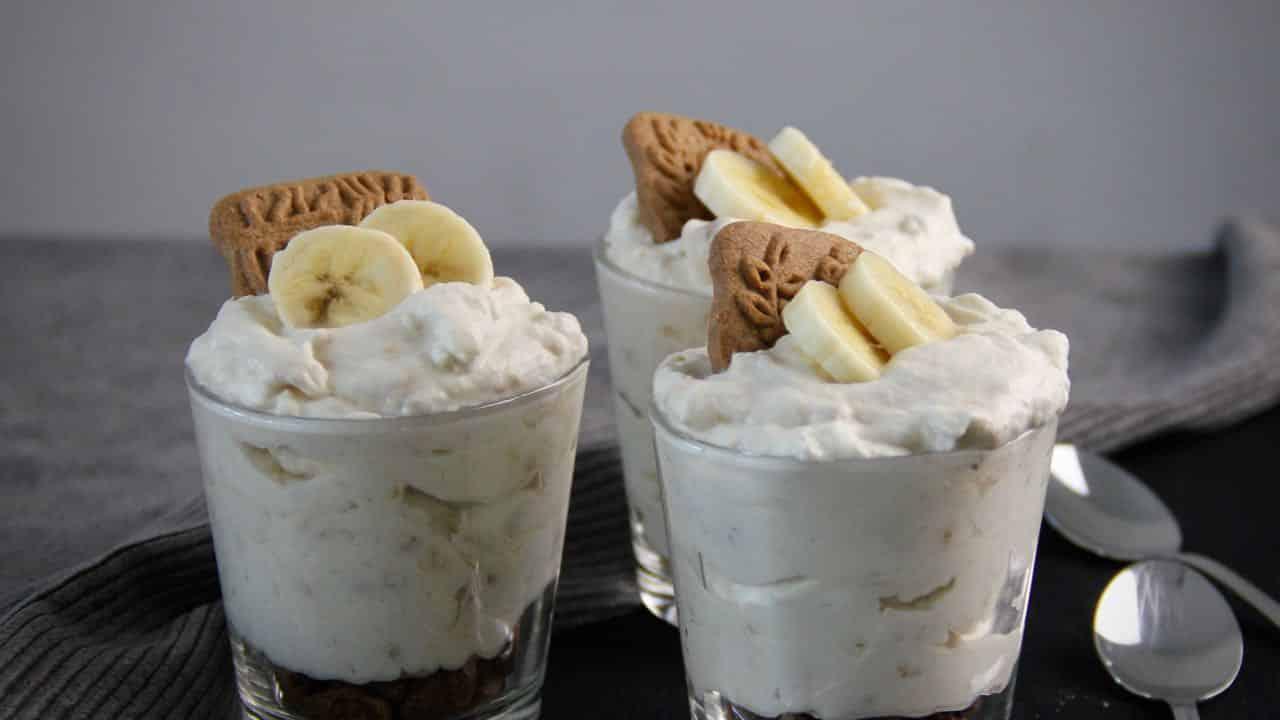 Bananenmousse met speculaas recept