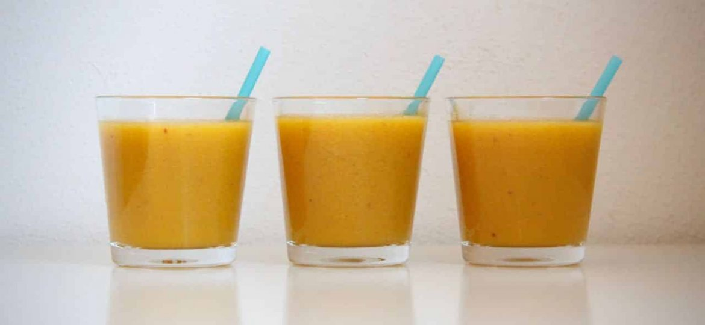 Smoothie sinaasappel perzik appel recept