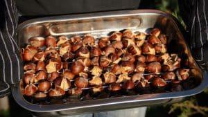 Recepten met kastanjes gepofte kastanjes