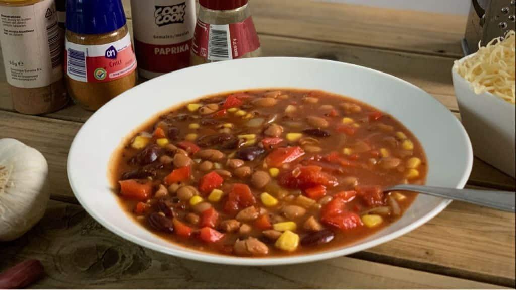 Chili sin carne met quinoa recept 1