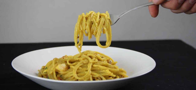 Spaghetti met kerriesaus recept 1