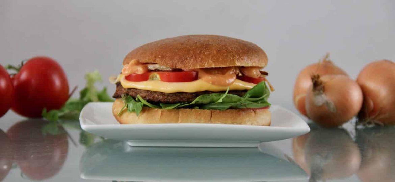 Vegetarische hamburger broodjes cheeseburger 1