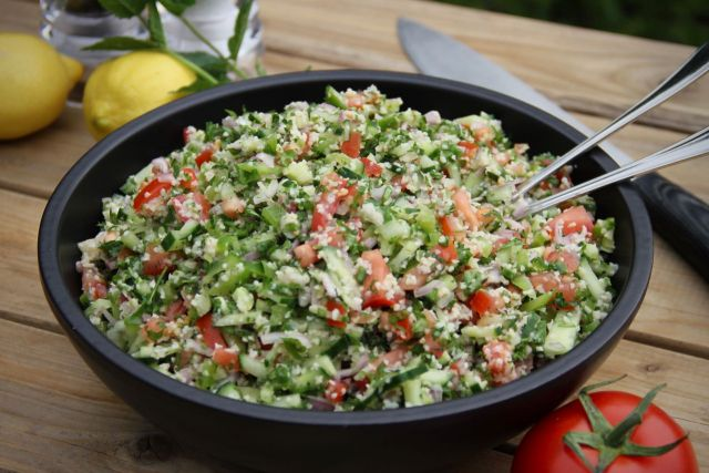 Bulgur salade met yoghurt dressing recept 1