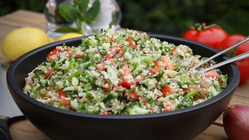 Bulgur salade met yoghurt dressing recept 2