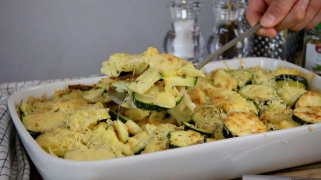 Courgette met vegetarische gyros 2