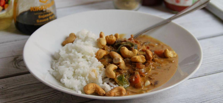 Makkelijke curry met nasi-groenten 1