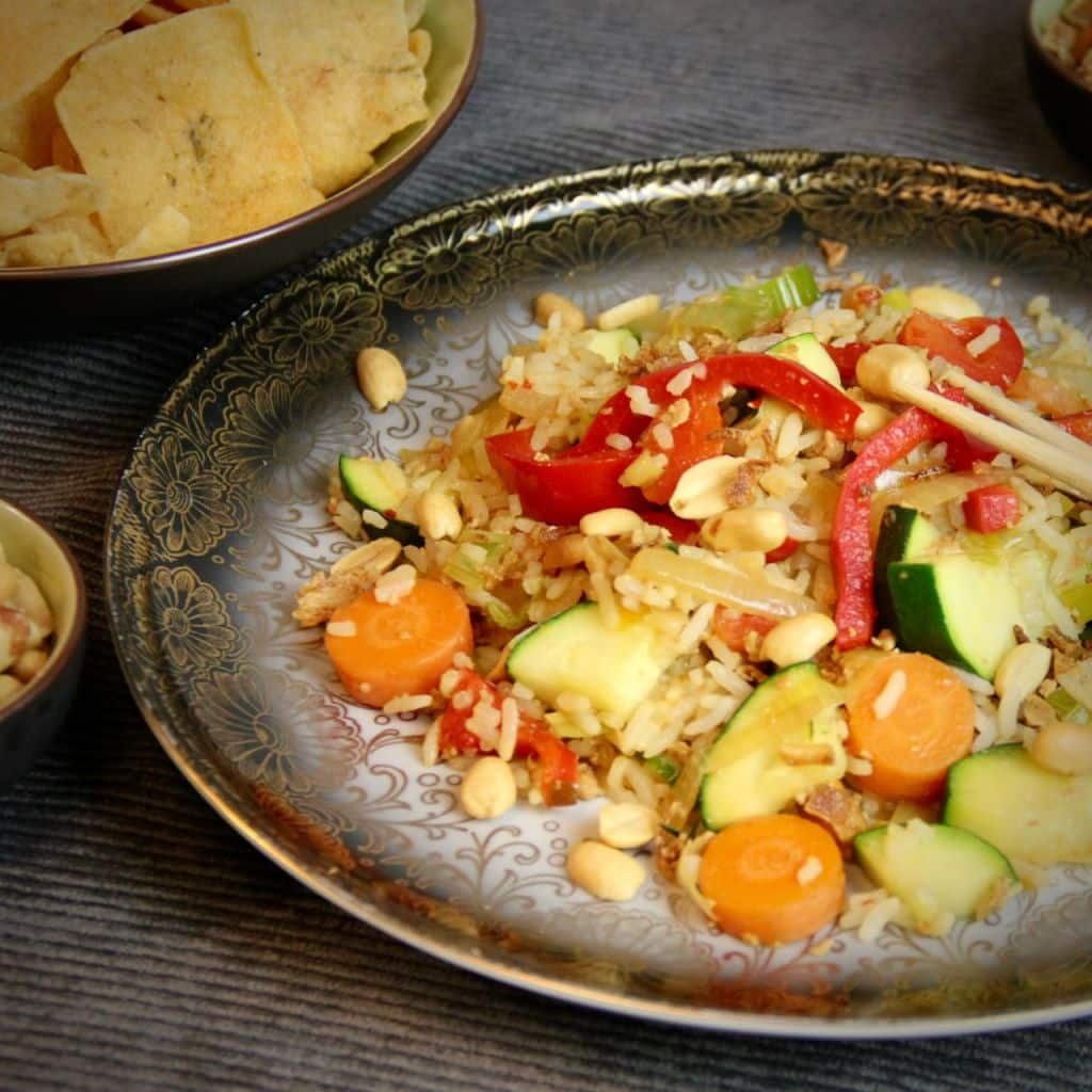 Nasi Goreng met groenten recept vierkant