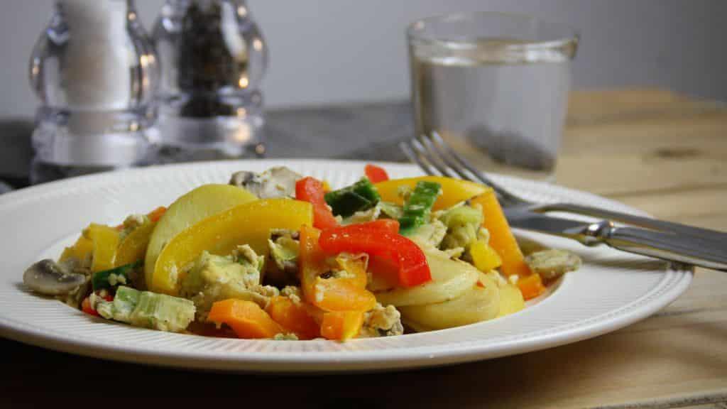 Eenvoudig vegetarisch recept - Roerbak met prei