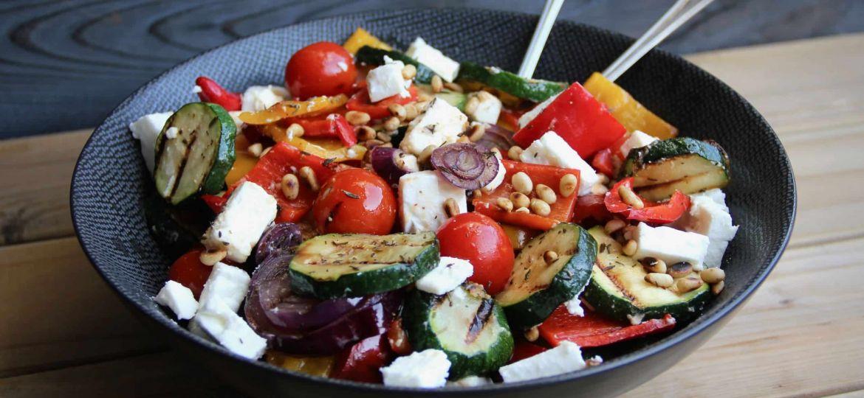 Gegrilde groenten salade met fèta recept 1