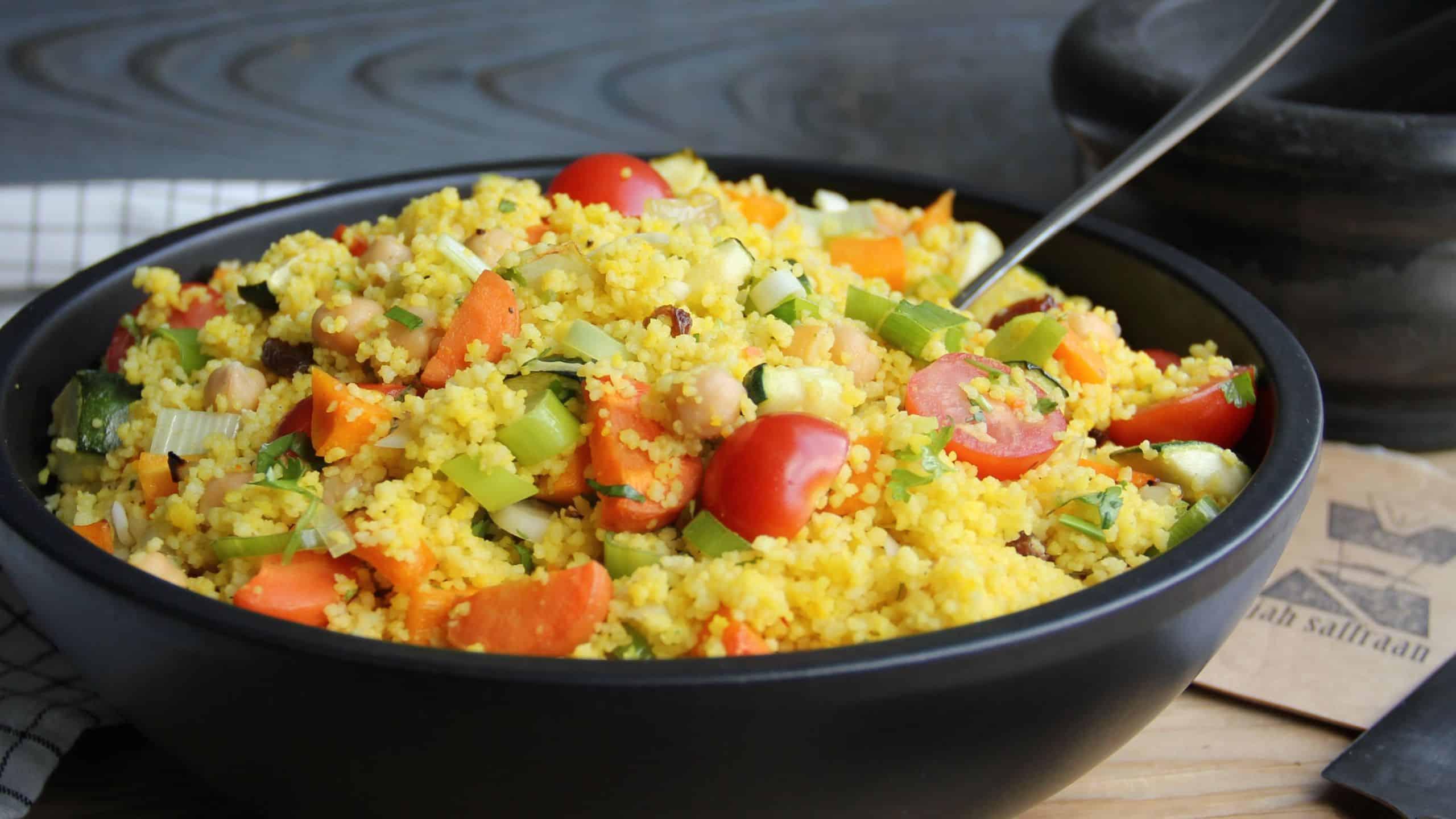 Couscous met groenten en saffraan recept