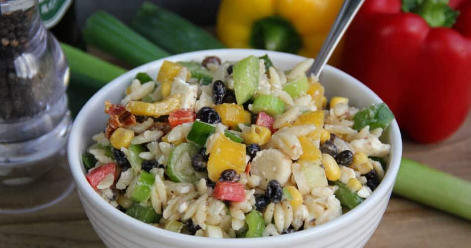 Orzo salade met feta recept 1