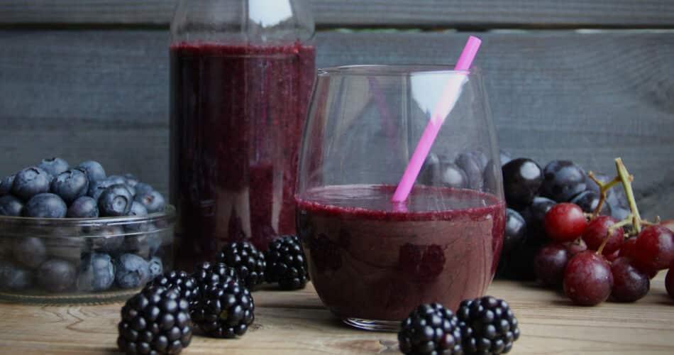 Druiven-bramen-blauwe bessen smoothie 1