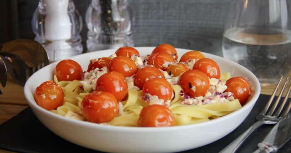 Tagliatelle met tomaat en feta 1